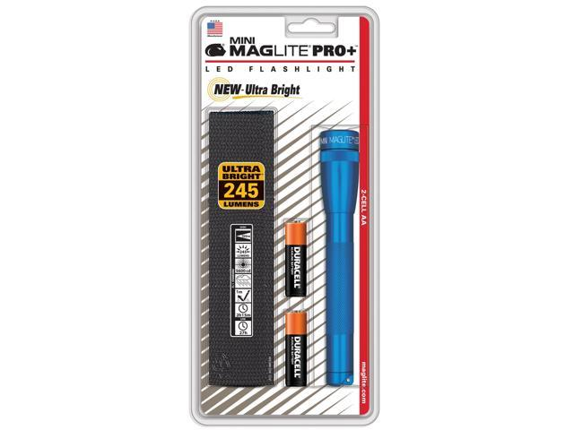 Maglite Mini LED Pro+ Blue Flashlight with Holster & Batteries included SP+P11H