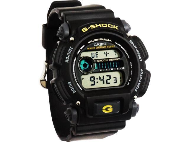 Casio G-Shock Shock/Water Resistant Black Digital Watch & Resin Band DW9052-1B