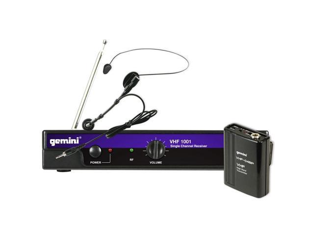 Gemini DJ VHF-1001HL-C8 Single-Channel VHF Wireless Headset System