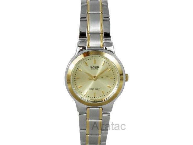 Casio LTP-1131G-9A Women's Two-Tone Casual Quartz Analog Watch w/ Gold Dial