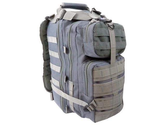 Every Day Carry Tactical Assault Backpack w/ Molle Webbing - Gray