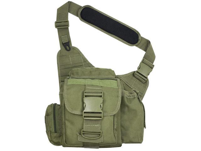 Every Day Carry Tactical Messenger Side Sling Shoulder Bag w/Pistol Pocket - ODG