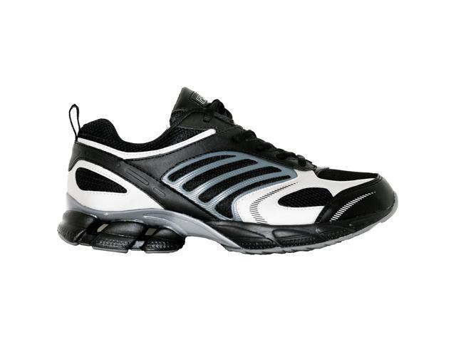 Ridge Footwear RR6008 Lightweight Suede / Mesh Running Shoes - Black / Grey - 9W