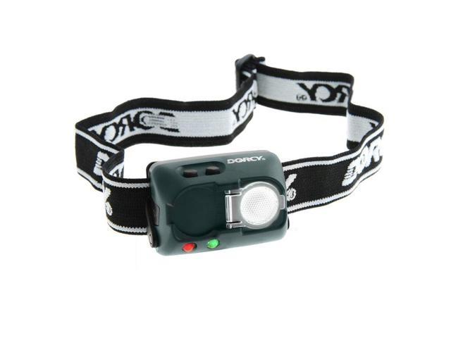 Dorcy 41-2103 20 Lumens LED Water/Impact Resistant Adjustable Headlamp with Strobe