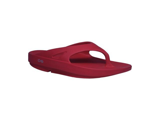 OOFOS OOriginal Impact Absorption Recovery Sandals - Cranberry - Size M5W7