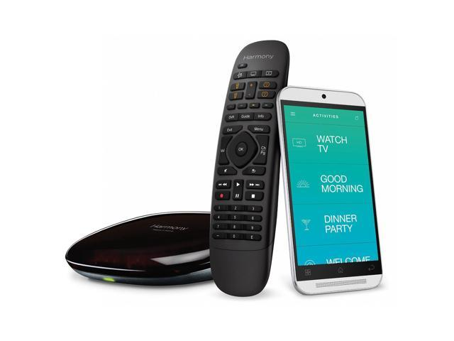 Logitech Recertified 915-000239 Harmony Home Wireless Hub with Remote Control & iOS / Android App - Black