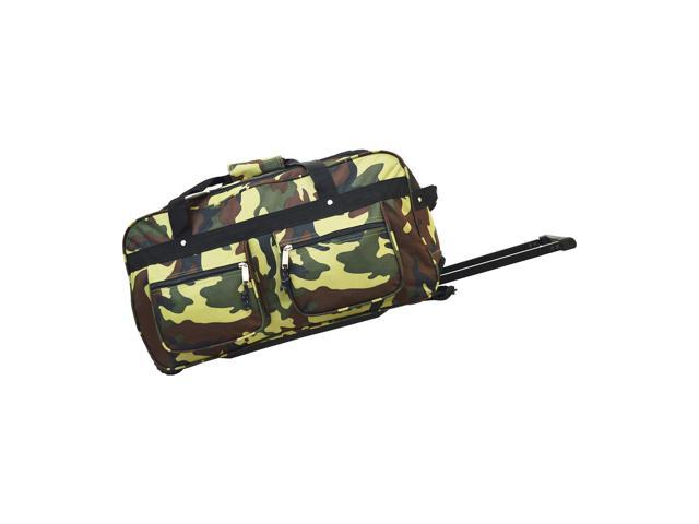 Every Day Carry Large Capacity Heavy Duty Rolling Duffel Bag - Camo