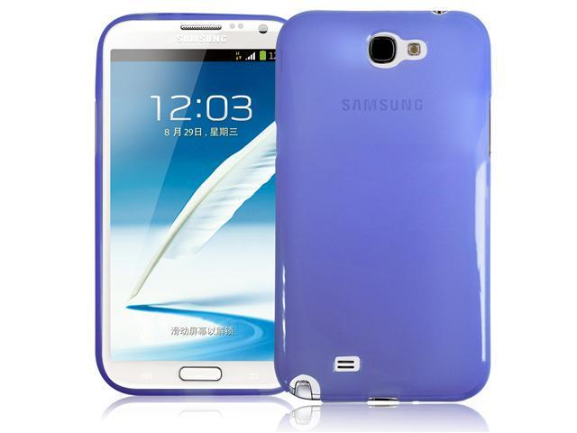 RND TPU Protective Case for Samsung Galaxy Note II (2) (Transparent Purple)