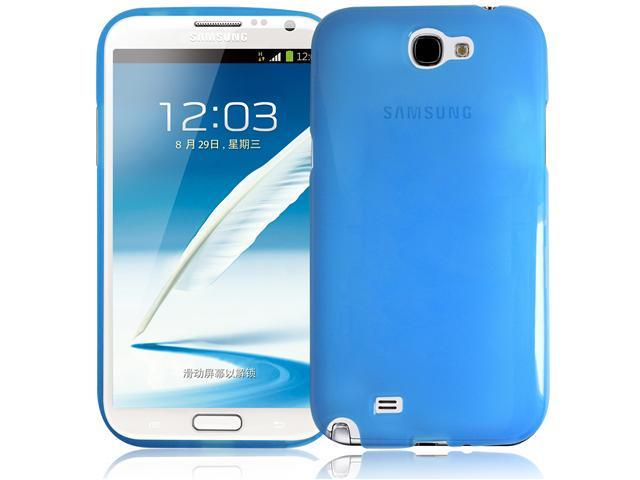 RND TPU Protective Case for Samsung Galaxy Note II (2) (Transparent Blue)