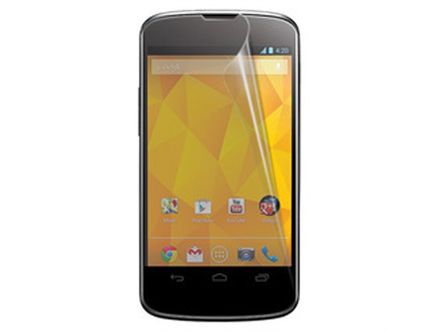 RND 3 Screen Protectors for LG Nexus 4 (Anti-Fingerprint/Anti-Glare - Matte Finish) with lint cleaning cloths