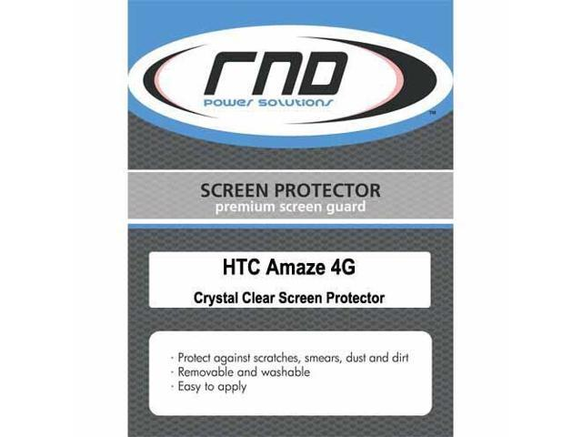 RND 3 Screen Protectors for HTC Amaze 4G (Ultra Crystal Clear) with lint cleaning cloths