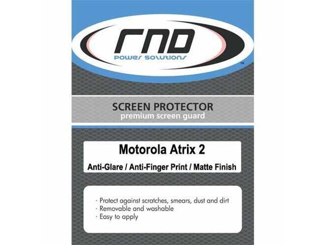 RND 3 Screen Protectors for Motorola Atrix 2 (Anti-Fingerprint/Anti-Glare - Matte Finish) with lint cleaning cloths