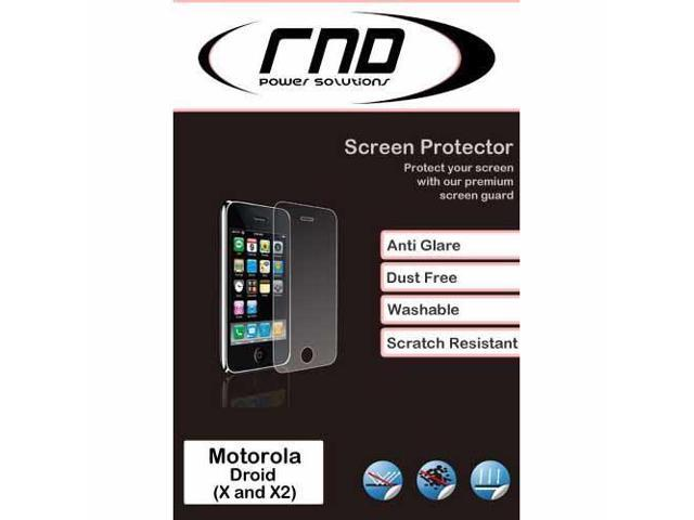 RND 3 Screen Protectors for Motorola Droid X and X2 (Anti-Fingerprint/Anti-Glare - Matte Finish) with lint cleaning cloths