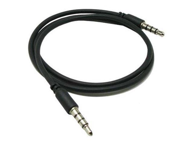 RND Auxiliary Audio Cable for Samsung Smartphones (2.5 feet/black)