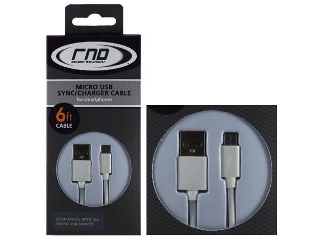 RND Micro to USB Cable for Smartphones (6 feet/white)