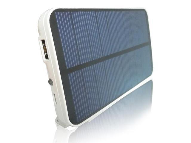 RND Solar Powered (5000mAh) External Battery pack / power bank for the iPad  Tablets  iPhone  smartphones and other USB Powered ...