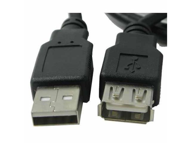 RND Male to Female USB Extension Cable (6 feet/black)