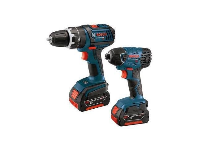 CLPK241-181 18V Cordless Lithium-Ion 1/2 in. Hammer Drill and Impact Driver Combo Kit