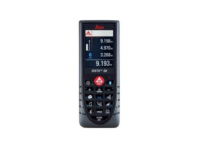 764558 DISTO D8 Handheld Laser Distance Meter with BLUETOOTH Technology