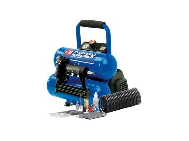 FP209599AV 1.0 HP 2 Gallon Oil-Free Twin Stack Air Compressor and 2-in-1 Brad Nailer/Stapler Kit