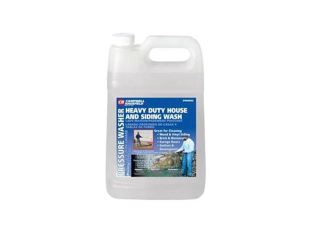 1Gal Heavy Duty House & Siding Wash Liquid CAMPBELL HAUSFELD PW0052 Clear/Yellow
