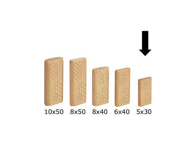 493296 5mm x 19mm x 30mm Domino Beech Tenons (1,800-Pack)