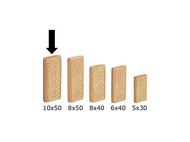 493300 10mm x 24mm x 50mm Domino Beech Tenons (510-Pack)