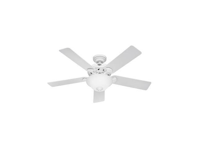 H22390 52 in. White Ceiling Fan with Light