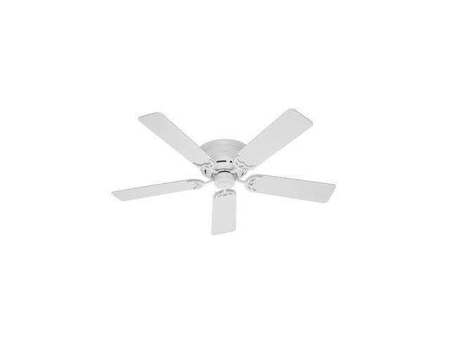 """20803 Low Profile III 52"""" White Ceiling Fan"""