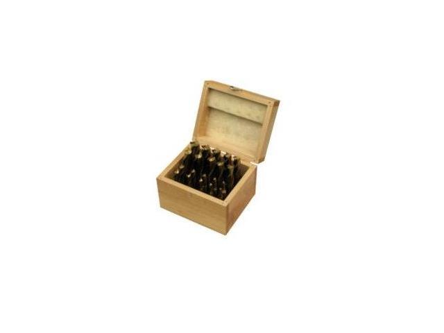 650211 20-Piece TiN Titanium Nitride Coated Single End Mill Set