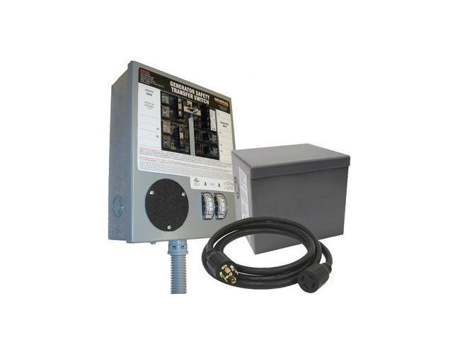 6294 30 Amp 120/240 Single Phase Pre-Wired Manual Transfer Switch for Portable Generators Up to 8 kW