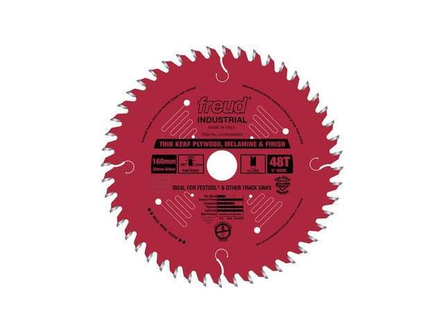 LU79R006M20 160mm 48 Tooth Thin Kerf Ultimate Plywood and Melamine Saw Blade