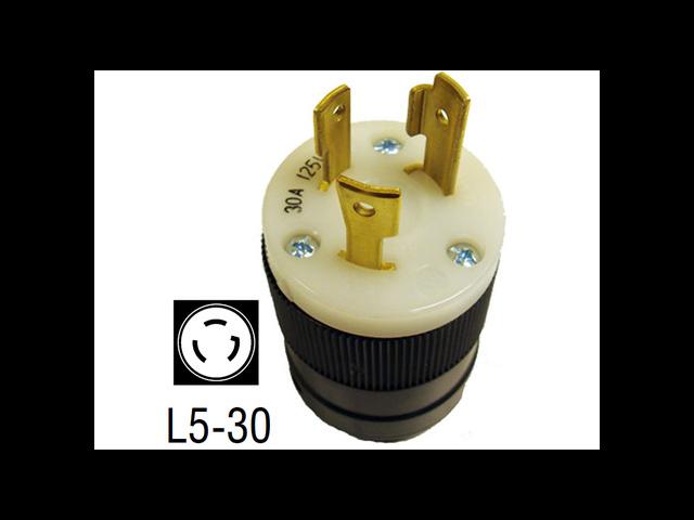 6394 30 Amp 125V 3-Prong Plug (NEMA L5-30 M)