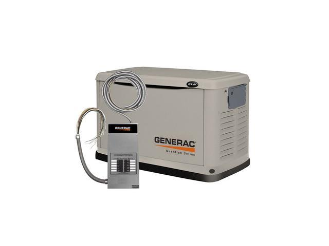 6237 Guardian Series 8 kW Air-Cooled Standby Generator with Steel Enclosure with 10 Circuit LC (CARB)