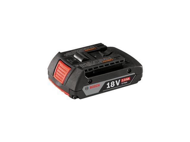 BOSCH BAT612 Cordless Tool Battery, 18V, Li-Ion, 2.0Ah
