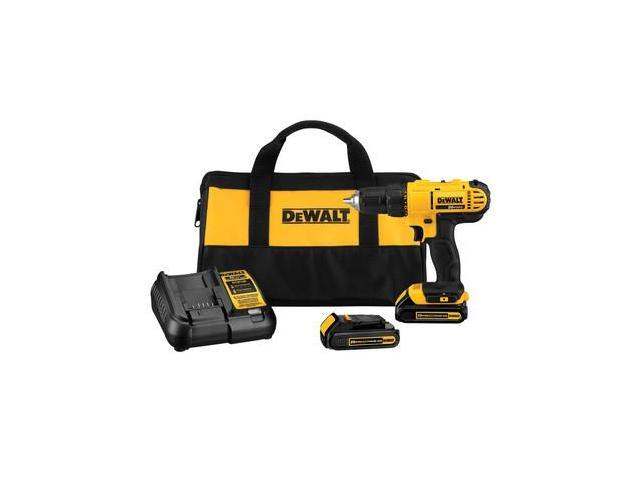 Dewalt DCD771C2R 20V MAX Cordless Lithium-Ion 1/2 in. Compact Drill Driver Kit