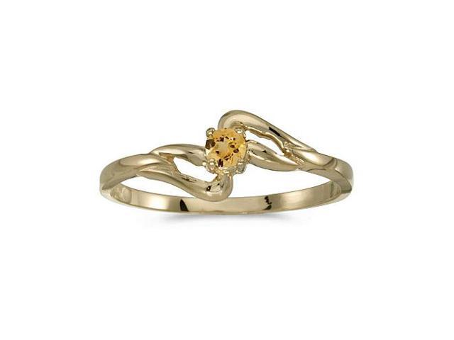 14k Yellow Gold Round Citrine Ring (Size 7)