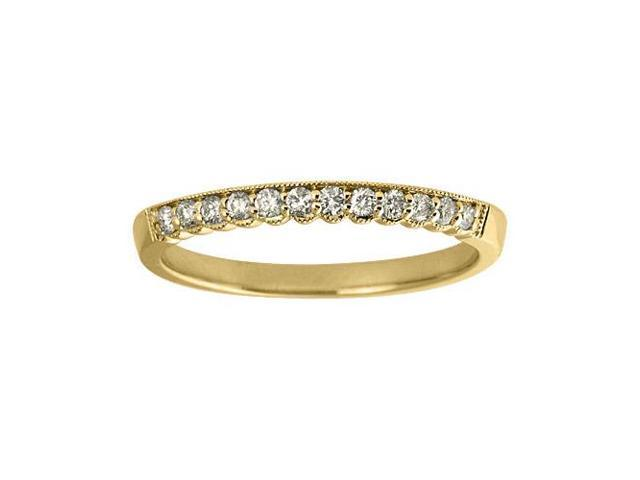 14K Yellow Gold Diamond Band Ring (Size 7)