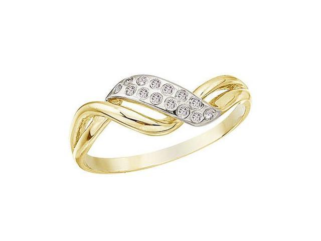 14K Yellow Gold and Diamond Promise Ring (Size 4.5)