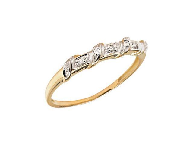 10K Yellow Gold Diamond Band Ring (Size 5)