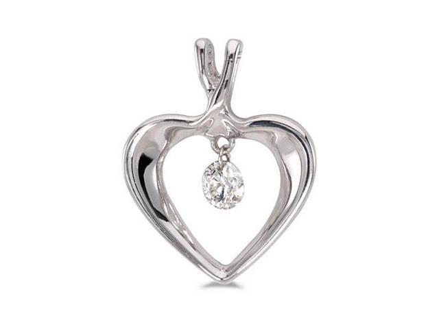"14K White Gold Dashing Diamonds Pendant with 18"" Chain"