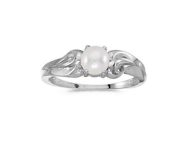 14k White Gold Freshwater Cultured Pearl Ring (Size 11)