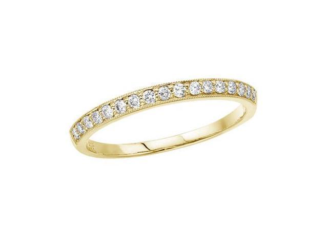 14K Yellow Gold Prong Set Diamond Band Ring (Size 4.5)