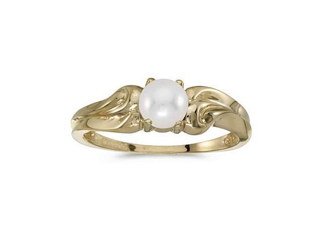 14k Yellow Gold Freshwater Cultured Pearl Ring (Size 7.5)