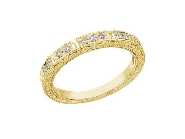 14K White Gold Bridal Princess Diamond Ring Band (Size 8.5)