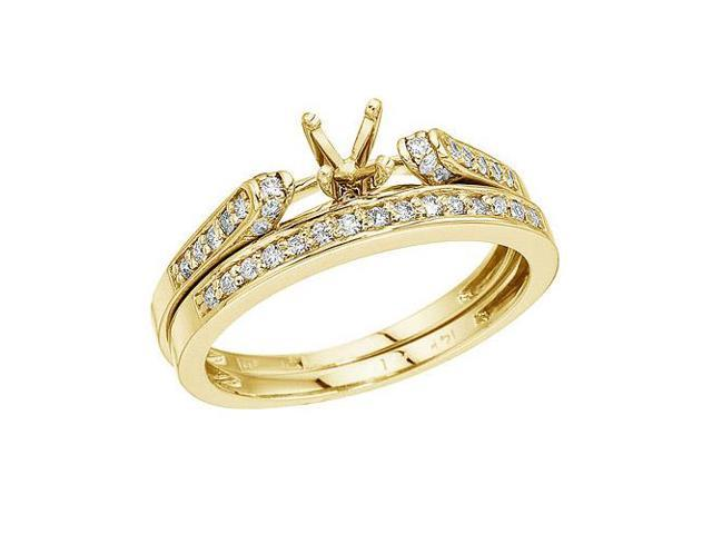 14K Yellow Gold Bridal Ring Set (Size 5.5)