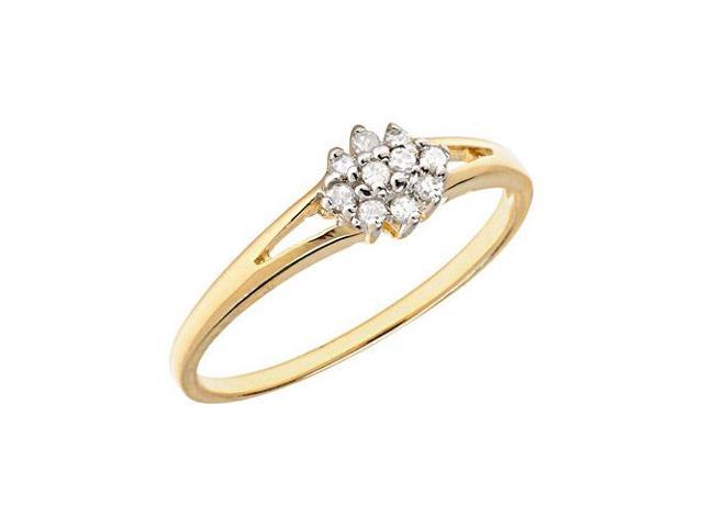 10K Yellow Gold Diamond Cluster Ring (Size 5.5)