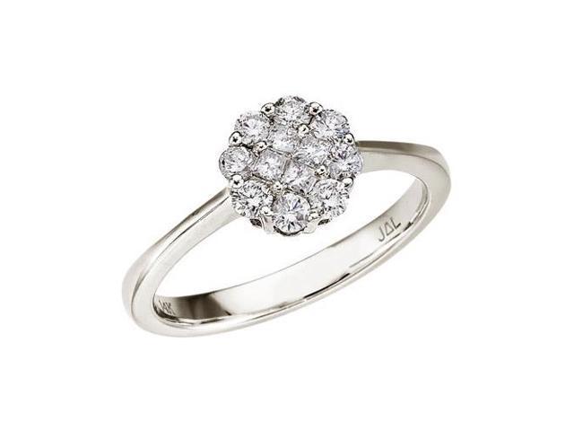 14K White Gold Diamond Clustaire Ring (.50 carat)