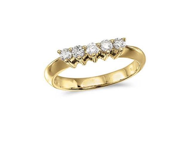 14k Yellow Gold 0.33 Ct Diamond Wrap Band (Size 7)
