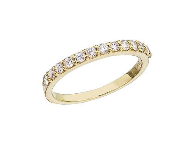 14K Yellow Gold Diamond Diamond Band Ring (Size 5)